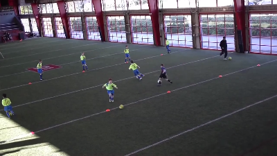 Soccer Drill Passing Receiving