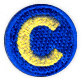 c soccer ball patch