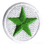 green star soccer ball patch