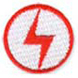 lightning bolt soccer patch