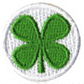 lucky shamrock soccer ball patch