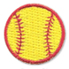 red and yellow baseball patch
