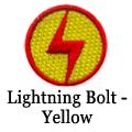 lightning bolt yellow patch
